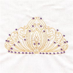 Tiara Crown embroidery design
