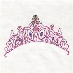 Outline Tiara embroidery design