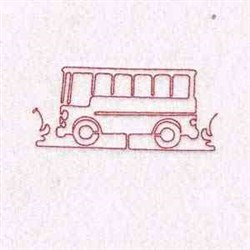 Bus Outline embroidery design