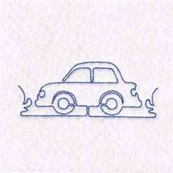 Outline Car embroidery design