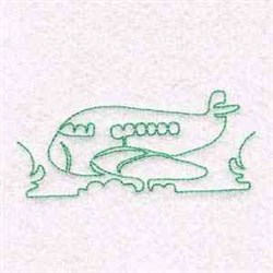 Outline Plane embroidery design