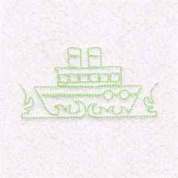 Outline Ship embroidery design