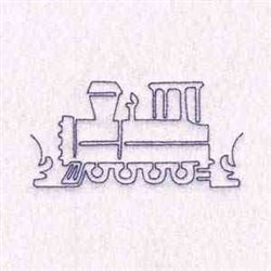 Outline Train embroidery design