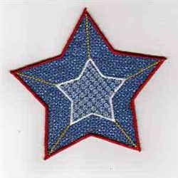USA Star embroidery design