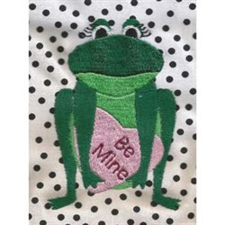 Valentine Frog embroidery design