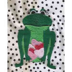 Valentine Frog Print embroidery design