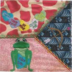 Valentine Toad CQ embroidery design