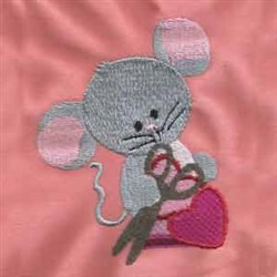 Valentine Mice embroidery design