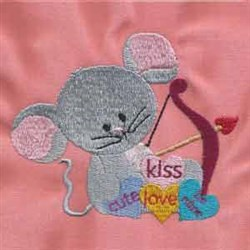 Valentine Mice Kiss embroidery design