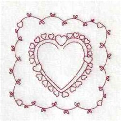 Valentine Heart embroidery design