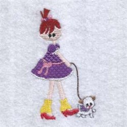 Walking The Dog embroidery design