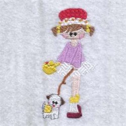 Missy & Dog embroidery design