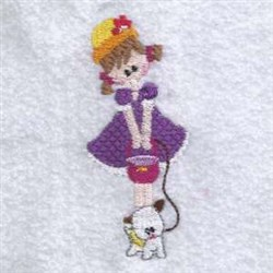 Walk With Dog embroidery design