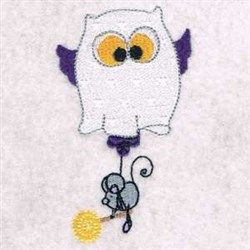 Whooami Owl embroidery design