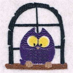 Window Owl embroidery design