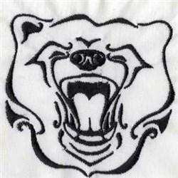 Bear Head embroidery design