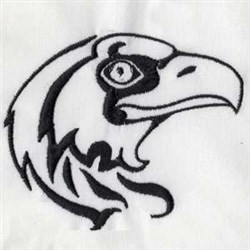Hawk Head embroidery design