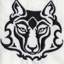 Wolfs Face embroidery design