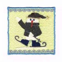Wincan Wrap Snowman embroidery design