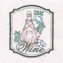 Wine embroidery design