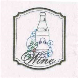 Wine Frame embroidery design