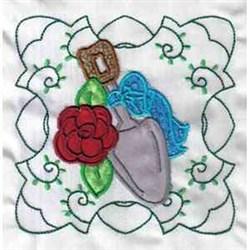 Applique Garden Shovel embroidery design