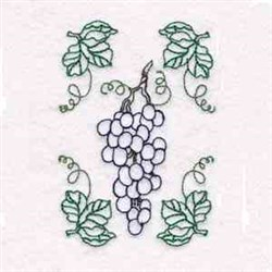 Wine From Vine embroidery design