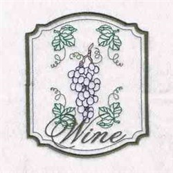 Grape Wine embroidery design