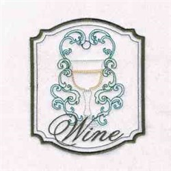 Wine Swirly embroidery design