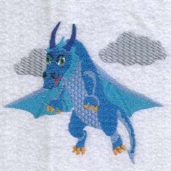 Flying Dragon embroidery design