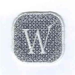 Winterbanner Square W embroidery design