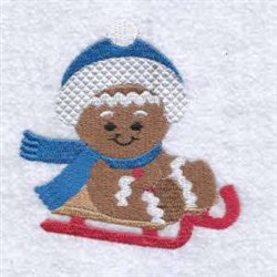 Gigerbread Sled embroidery design
