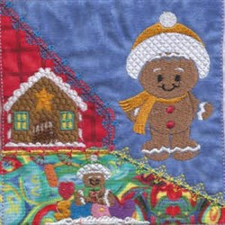 Winter Ginger Quilt embroidery design