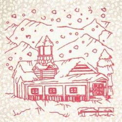Winter Home embroidery design