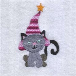 Halloween Witch Cat embroidery design