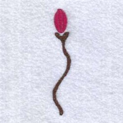 Flower Bud embroidery design