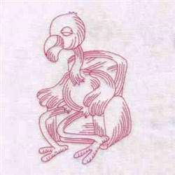 Sitting Flamingo embroidery design