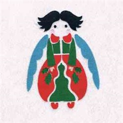 Xmas Lovely Angel embroidery design