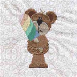 Yummy Bear embroidery design
