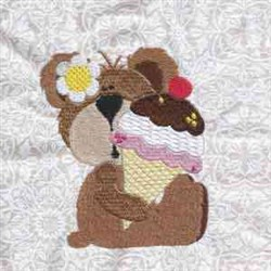 Yummy Bear Icecream embroidery design