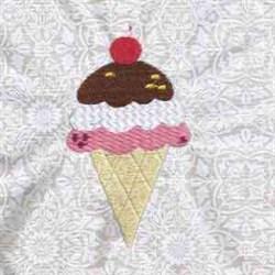 Icecream embroidery design