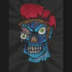 Zombie embroidery design