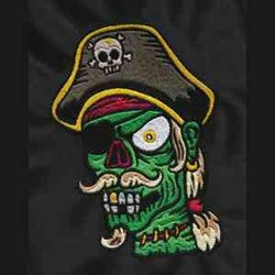 Zombie Pirate embroidery design