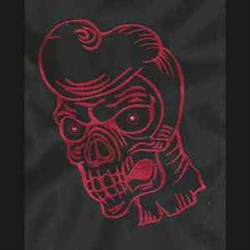 Zombie Head embroidery design