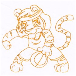 Basketball Tiger embroidery design