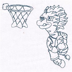 Basketball Zebra embroidery design