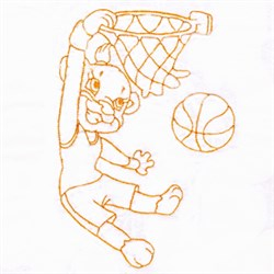 Basketball Monkey embroidery design