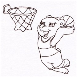 Basketball Rat embroidery design