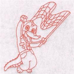 Race Gator embroidery design