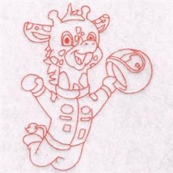 Race Giraffe embroidery design